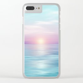 Calm sunset Clear iPhone Case