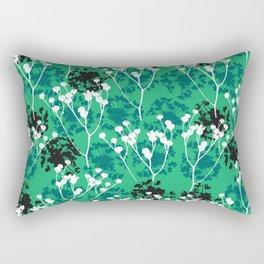 Seeds on green Rectangular Pillow