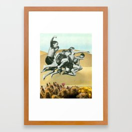 Look Before You Leap Framed Art Print