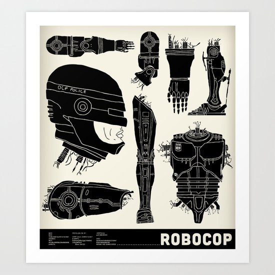 Decommissioned: Robocop Art Print