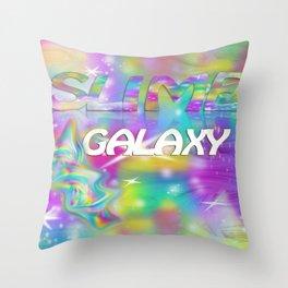 Swirl Slime Galaxy Throw Pillow