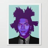 basquiat Canvas Prints featuring Basquiat by Grace Teaney Art
