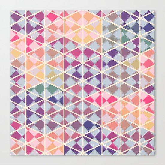 Purple mosaic pattern Canvas Print