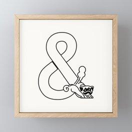 Pug Ampersand Yoga Framed Mini Art Print