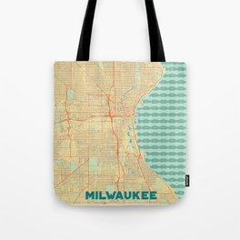 Milwaukee Map Retro Tote Bag