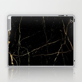 Black and gold marble Laptop & iPad Skin