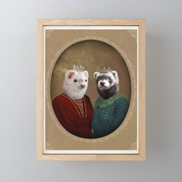 Skittle & Belette Framed Mini Art Print