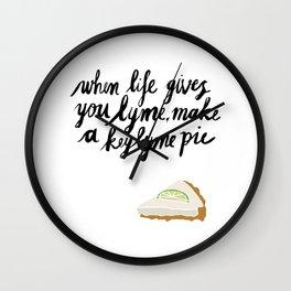 Key Lyme Pie Wall Clock