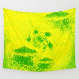 Radioactive mushroom landscape Wall Tapestry