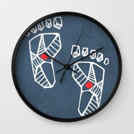 Jesus Christ feet Wall Clock