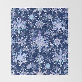 Snowflakes #3 Throw Blanket