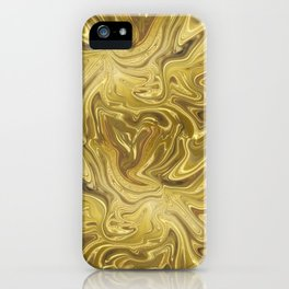 Rich Gold Shimmering Glamorous Luxury Marble iPhone Case