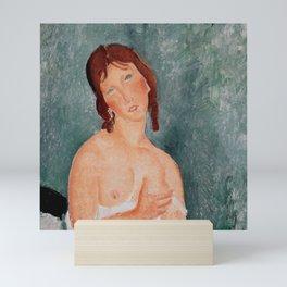 "Amedeo Modigliani ""Young Woman in a Shirt (The Little Milkmaid)"" Mini Art Print"