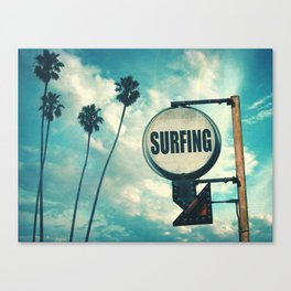 Surfing Sign Canvas Print