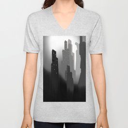 jungian city Unisex V-Neck