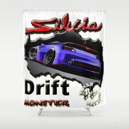 Drift Sport Car Shower Curtain