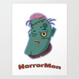 HorrorMon Zombie Art Print