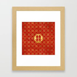Double Happiness Feng Shui Symbol Framed Art Print