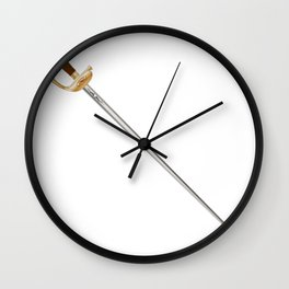 French Infantry Officer Sword Wall Clock
