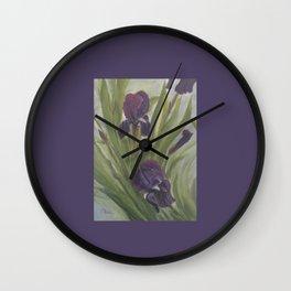 Winter Iris Wall Clock