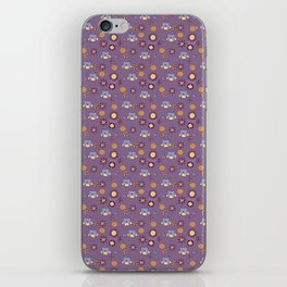Owl, purple pattern iPhone Skin