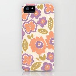 1960 Floral iPhone Case