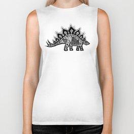 Stegosaurus Lace - Black / Grey Biker Tank