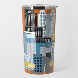 Atlanta, Georgia - Skyline Illustration by Loose Petals Travel Mug