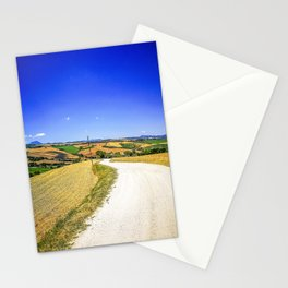 Country road in the Marche Region on the Adriatic Sea, Italy Stationery Cards