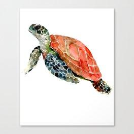 Sea Turtle, turtle art, turtle design Canvas Print