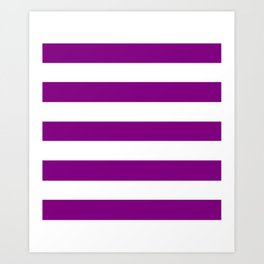 Patriarch - solid color - white stripes pattern Art Print
