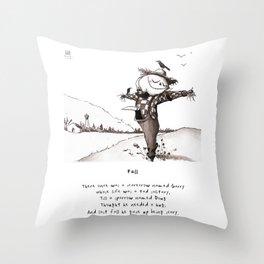 Scarecrow Fall Limerick Throw Pillow