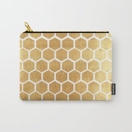 Gold honey bee Carry-All Pouch