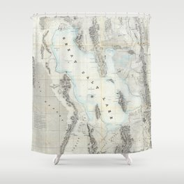 Vintage Map of The Great Salt Lake (1852) Shower Curtain