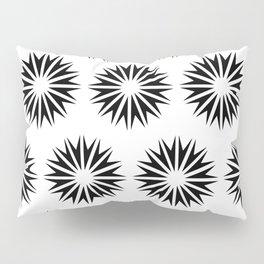 Black Modern Sunbursts Pillow Sham