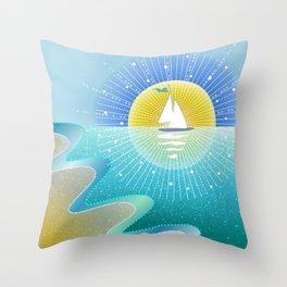 Sunny Sailing Throw Pillow