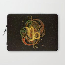 Capricorn Zodiac Sign Earth element Laptop Sleeve