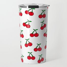 Cherries 1 (on white) Travel Mug
