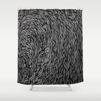 hiphop Shower Curtains featuring Self-titled by Kel Brown