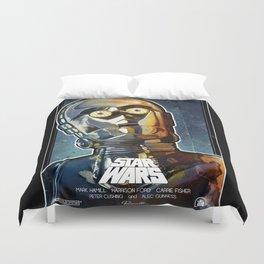 Star Wars A New Hope. Inspired Poster. C3PO (Anthony Daniels). Duvet Cover