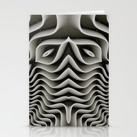 exo Stationery Cards featuring Exo-skelton 3D Optical Illusion by BohemianBound