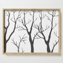 Bare Trees Serving Tray