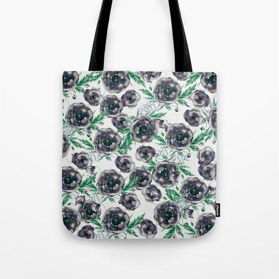 Black Poppies Tote Bag
