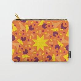 Orange Geometric Party Mandala Carry-All Pouch