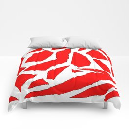 Collage red white Comforters