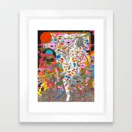 Wildflower Ghost Framed Art Print
