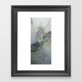 Neuron Map Framed Art Print