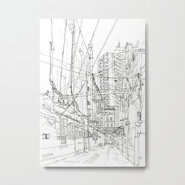 Shanghai. China. Yard full of wires Metal Print