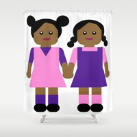 sisters Shower Curtains featuring Sisters by Leslie S. Alexander