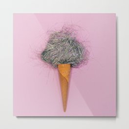 candyfloss in a waffle cone Metal Print